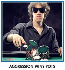 Aggresive poker play