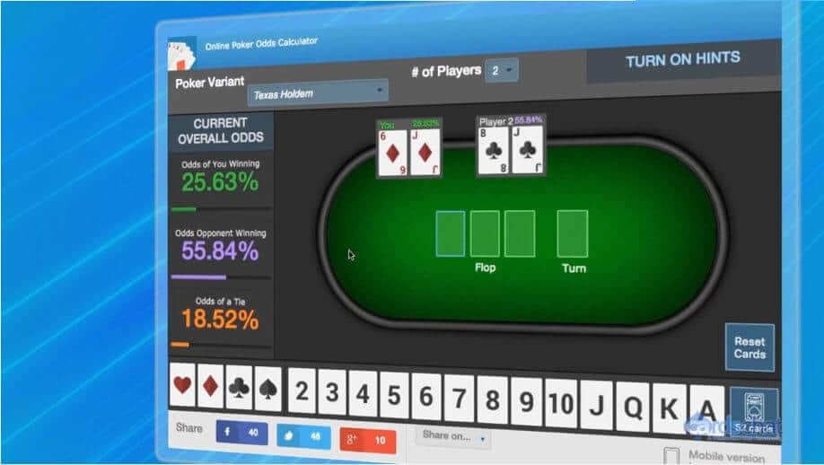 Poker Odds Calculator Online   Easy Fast  Free