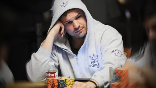 Ivey poker pro Griffin Benger is looking strong at start of Day 5 in Main Event of World Series of Poker 2014.