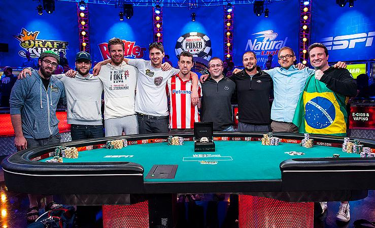 2014 WSOP November Nine players clearly happy to have made it.