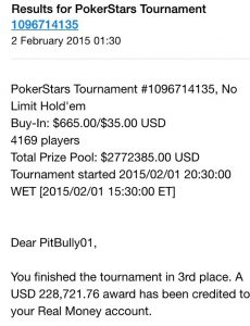 Jamie Geffen PokerStars tournament