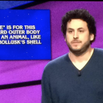 Alex Jacob, one-time poker star, now a crusher of TV game shows, is the new Jeopardy Champion of Champions for $250,000. (Image: Sony Pictures Television)