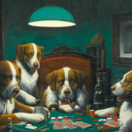 The famous painting Poker Game by Cassius Marcellus Coolidge has been sold at auction for $658,000. (Image: GQ.com)