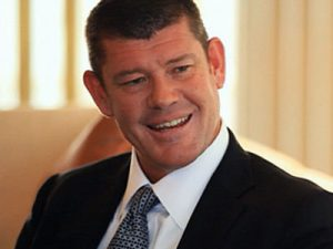James Packer shoves Crown employee.