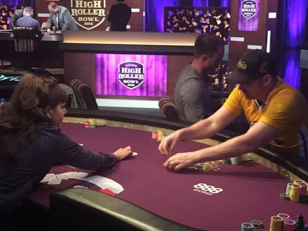 Phil Hellmuth Jason Les Aria Super High Roller Bowl 2016 Day One