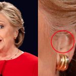 This image from the first presidential debate this week appears to show an earpiece of some kind in Hillary Clinton's ear. But was it to gain an edge? Mike Matusow thinks so. (Image: Reuters)