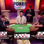 Presidential debate advice from the champ: heads-up pro Phil Hellmuth, right, (seen here in a 2013 match against Mike Matusow) has a few pointers and tips for tonights debaters, Hillary Clinton and Donald Trump. (Image: NBC/YouTube)