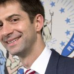 The youthful Arkansas senator, Tom Cotton, wants to ban online poker at a federal level.  (Image: Carolyn Kaster / Associated Press)