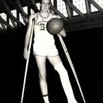 Doyle Brunson, seen here back in his basketball days at Hardin-Simmons University, will become a member of the Big Country Athletic Hall of Fame for his sporting achievements at college. (Image: beatthefish.com)