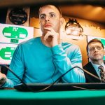 Poker pro Jason Les is battling Libratus at the Rivers Casino in Pittsburgh this week. He believes the poker bot is a huge improvement over its predecessor, Claudico, which narrowly lost to the human team in 2015. (Image: Andrew Rush/Pittsburgh Post-Gazette)