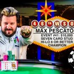 Max Pescatori Auctions Off WSOP Bracelet on eBay for Charity