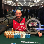 It's déjà vu for Canada's Mike Leah as he poses with the Fallsview $1,100 trophy for the third time in four years.  (Image: Fallsview Casino)