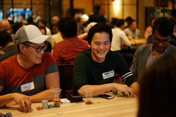 Singapore entrepreneurs poker networking Vulcan Post