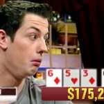 Tom Dwan (shown here acting shocked by the hand his opponent had in a vintage High Stakes Poker episode) made a rare social media appearance earlier this week to share his views on President Donald Trump. (Image: pokertube.com)