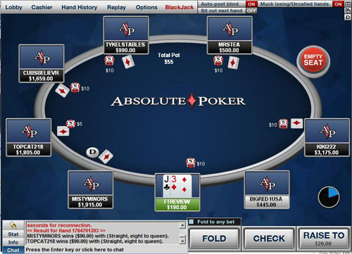 Absolute poker mobile