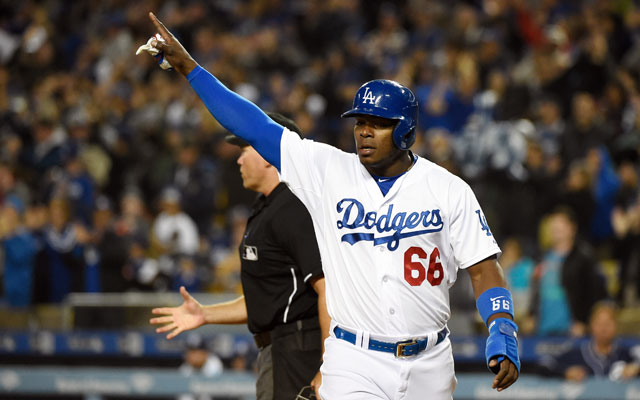 Yasiel Puig Dodgers charity poker tournament