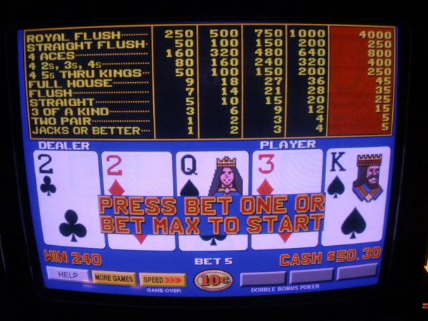 Video poker for Parkinson's rehab
