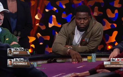 Super High Roller Bowl, Day One: Kevin Hart Entertains, Phil Hellmuth Coolered