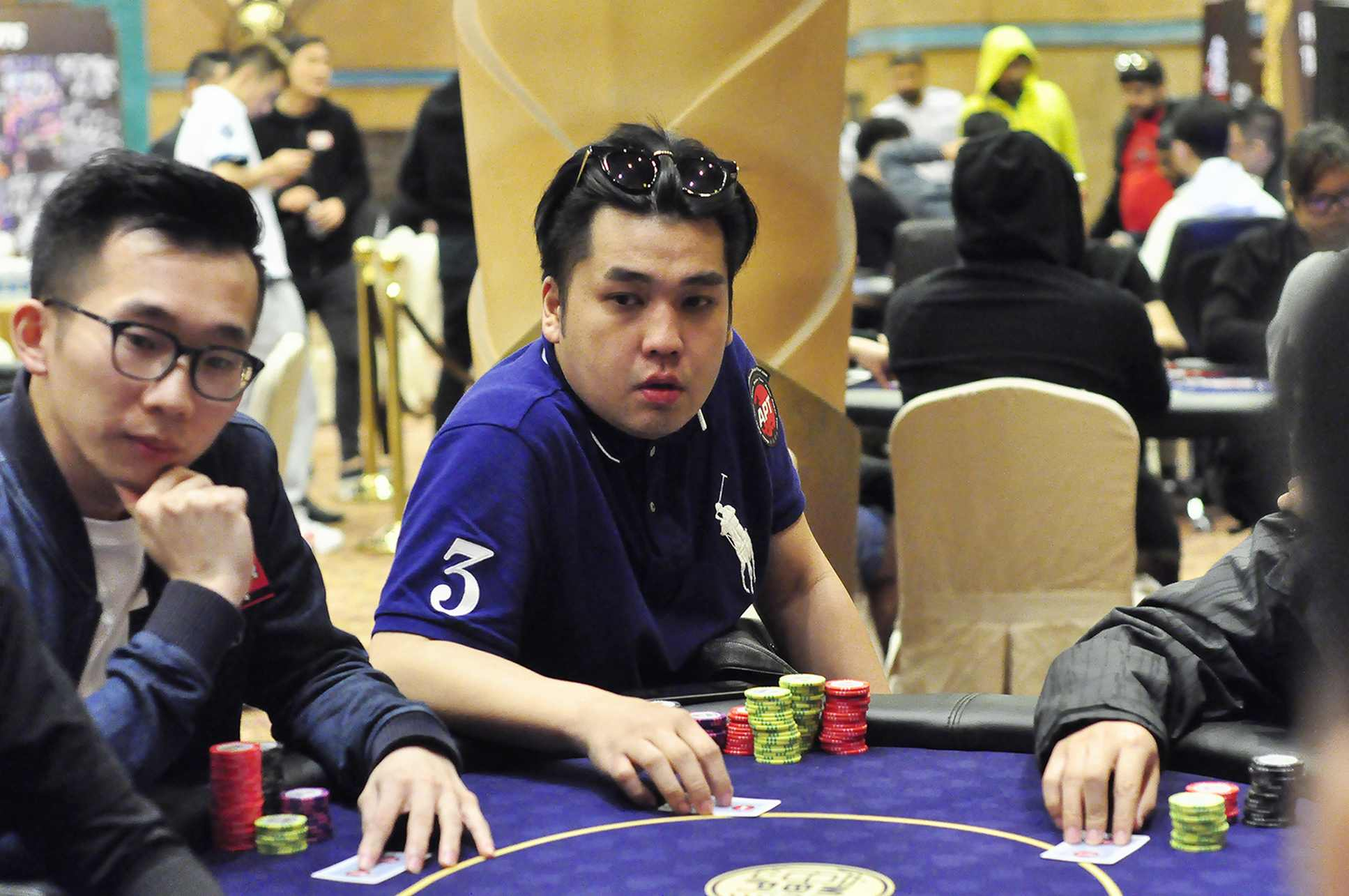 Choong Weng of Malaysia en route to winning the main event of APT Macau