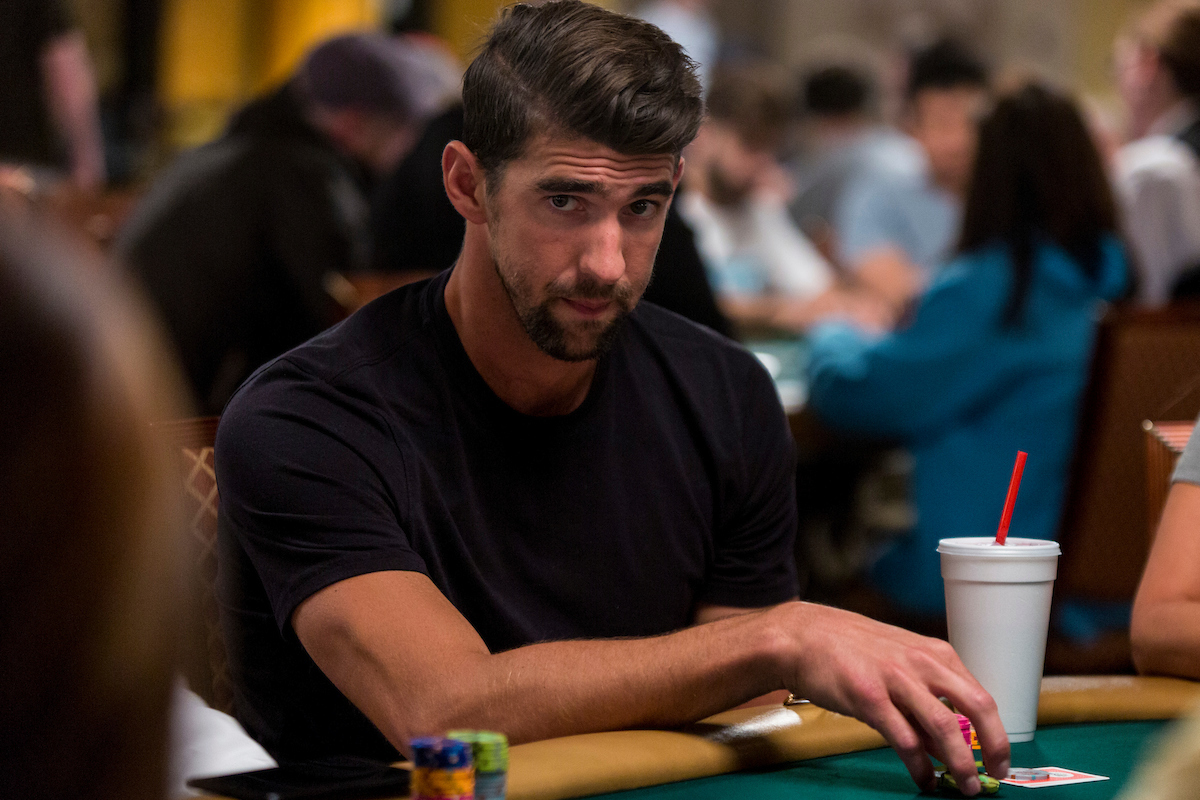 Michael Phelps at the 2017 WSOP