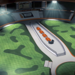 Artist's rendering of the world-class putting stadium being built behind Planet Hollywood to host the MSOP, a series of poker-like putting competitions that Daniel Negreanu hopes to win. (Image: YouTube / MSOP)