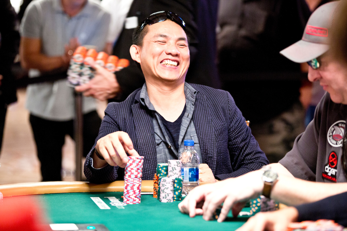 Christian Pham, chip leader at the end of Day Six