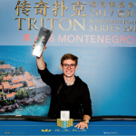 Fedor Holz hoists his third trophy in as many months after winning the 2017 Triton Super High Roller Series Montenegro HK$250,000 6-Max Event. (Image: Triton HR Series/Danny Maxwell)