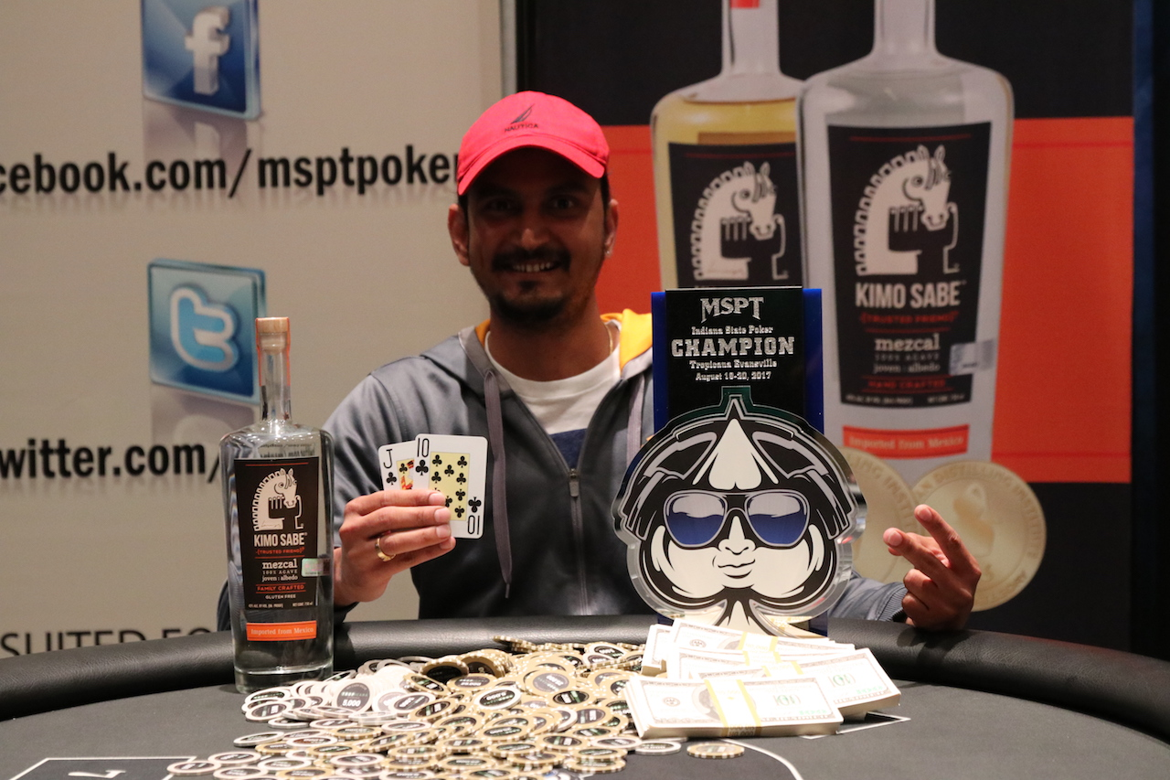 Satish Thakur Cracks MSPT Code, Wins 2017 Indiana State Poker Championship for $71K