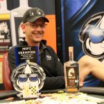 Jeff Birt shows a little skin to celebrate his win in the MSPT Running Aces Main Event. (Image: MSPT)