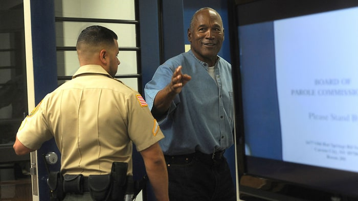 OJ Simpson out of prison on parole