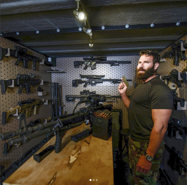 Dan Bilzerian with guns