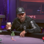 "Rick Salomon (center) gives us that look on your face when you're holding second nuts and your opponent responds to your raise by saying ""all in.""  (Image: YouTube/Poker Central)"
