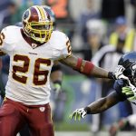 Former NFL star Clinton Portis owes Atlantic City's Borgata $170,000 from a 2011 gambling debt, and the casino is taking him to court to recoup the money. (Image: redskins.com)