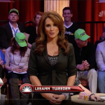 Leeann Tweeden, seen here as hostess for the NBC Heads Up Championship, said she harbored anger and disgust for Sen. Al Franken for more than 10 years before going public with her story. (Image: NBC/YouTube)