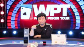 Qian Zhi Qiang Steamrolls Final Table to Win WPT Sanya Main Event for $242,555