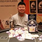 Rich Bai usually plays high-stakes cash games in Chicago and Vegas, but now he finds himself at the Wisconsin State Poker Champion. (Image: MSPT)