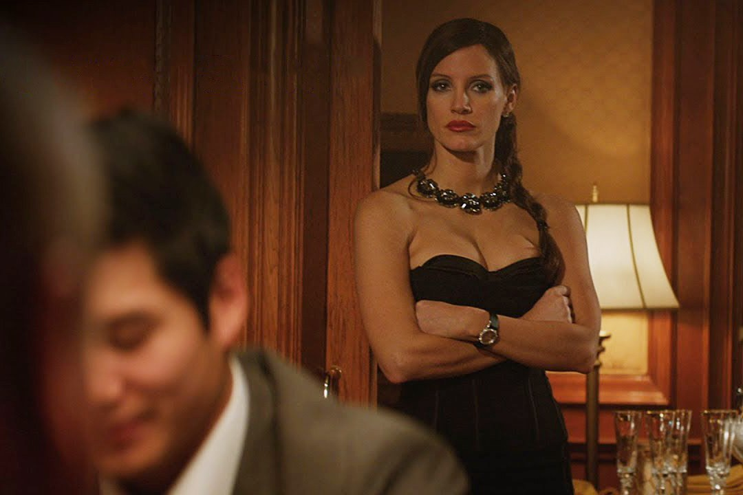 "Jessica Chastain in ""Molly's Game"""