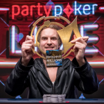 "Viktor ""Isildur1"" Blom notched the second-largest score of his career by taking down the partypoker LIVE MILLONS Germany. That allowed him to move into eighth place on Sweden's all-time poker money list. (Image: partypoker)."