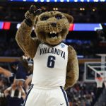 Will D Cat, mascot for the Villanova Wildcats, is psyched to be repping the betting favorite to win the national title. (Image: Maddie Meyer/Getty)