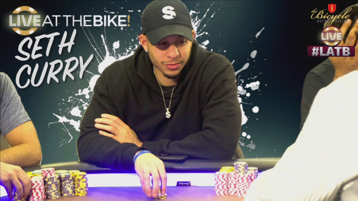 "Seth Curry playing poker on ""Live at the Bike"""