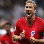 England's Harry Kane celebrates after his second goal of the match led his side to a 2-1 World Cup victory over Tunisia on Monday. (Image: Getty)