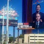 Doug Polk's billboard outside the Rio, designed to to troll Daniel Negreanu for continuing to associate with a brand Polk believes is bad for the game.