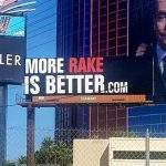 Doug Polk's billboard outside the Rio, designed to annoy Daniel Negreanu. Image: Pamela Maldenado/Twitter)