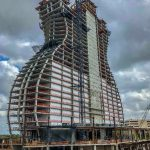 Construction of the new guitar hotel tower in South Florida is rocking. (Image: Seminole Hard Rock)