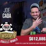 Joe Cada won his second bracelet of the summer in $1,500 The Closer two days after busting out in 5th from the WSOP Main Event. (Image: wsop.com)