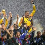 France celebrates after winning the 2018 FIFA World Cup final by a 4-2 score over Croatia. (Image: Chris Brunskill/Fantasista/Getty)