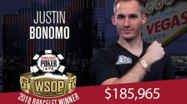 Not-So-Big One for One Drop Day Two Sees Bonomo Rule and Ivey Tumble, as WSOP 2018 Winds Down