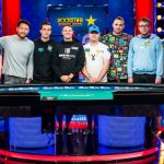 The 2018 WSOP Main Event final table of nine is now down to six, and that includes University of Michigan fan Joe Cada, the 2009 world champion. (Image: wsop.com)