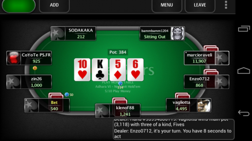 how to play home games on pokerstars mobile