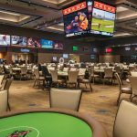 An empty poker room was all that remained after a flood forced the evacuation of the Talking Stick Resort. (Source: Talking Stick Resort)